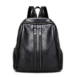 Discount good quality girls school bags - 2017 New girls students school bags fashion backpack shoulder bags zipper bagpack good quality PU leather