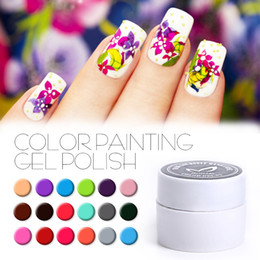 8c3b02abe8 Wholesale-China factory DIY 36 Colors Drawn Painting Gel Polish White Gold  Gel Ink Soak Off No Odor Vernis Semi Permanent Color UV Gel