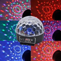 dmx512 led crystal ball Canada - Mini DMX512 LED Effect Magic Ball Crystal Stage Lights RGB Projector Stage Lighting For DJ DISCO PARTY Bulb Lights 18W 100V-240V 10pcs