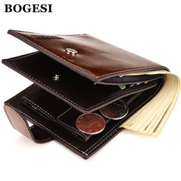 Mens Wallets Coin Purse Canada - Wholesale- BOGESI Brand Men Short Wallets Balck Coffee Bifold Wallet Mens Famous PU Leather Card holder Coins With Zipper Wallet Purse Gif