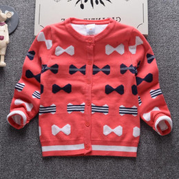 $enCountryForm.capitalKeyWord Canada - 2017 Autumn Winter New Girls Double thick Sweaters Kid warm Cotton Coat Children Clothing Baby Knitted cardigan Bow cute Sweater