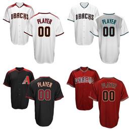 7619a4d3e04 ... Custom Mens Arizona Diamondbacks Jerseys Personalized Home White Grey  Red Green Black Cool Base Baseball Customized ...