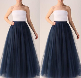 Vêtements Chauds À La Mode Pas Cher-Hot Selling Girls 'Long Skirts New Arrival Women Clothing Falaises à pied de sol Tulle Tutu 7 couches Custom Made Women Skirts Cheap