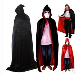 Barato Robe Assistente Halloween-Halloween Grim Reaper capes 2017 Feiticeiro adulto Wizard Cosplay Costume Capa com capuz Witch Grim Reaper Cosplay Costume Robe Capes