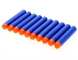 100 PCS Pour NERF Balles Doux Trou Creux Tête 7.2 cm Recharge Fléchettes Jouet Pistolet Balles pour Nerf Série Blasters Xmas Kid Enfants Cadeau