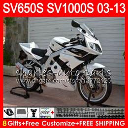 Pink fairings online shopping - white black Gifts For SUZUKI SV1000S SV650S NO65 SV1000 S SV650 S SV S S Fairing