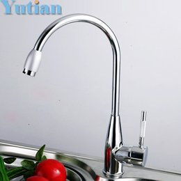 Kitchen Faucet Light Chrome Australia - Wholesale- Free shipping brand new zinc alloy chromed hot and cold water kitchen mixer faucet,kitchen sink tap,torneira cozinha
