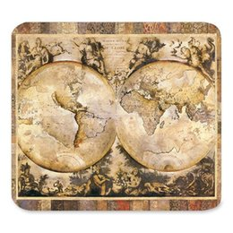 mouse pad world UK - Generic Customized Rubber Mousepad Gaming Mouse Pad,Vintage Watercolor World Map Art Design,Gaming Non-slip Rubber Large Mousepad Mat