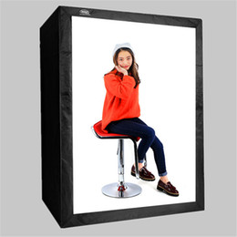 Wholesale photography professionals for sale - Group buy 120 cm DEEP LED Professional Portable Photography Softbox LED Photo Studio Video Light Box with LED Lights for Cloth Model