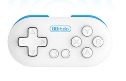 Playstation Wireless Controllers Canada - Hot 8Bitdo Zero Mini Wireless Bluetooth V2.1 Game Controller Gamepad Joystick Selfie for Android iOS Window Mac OS