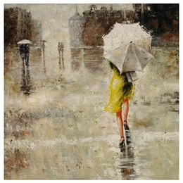 $enCountryForm.capitalKeyWord Canada - Pure Hand Painted Contemporary Impression Street Wall Decor Art Oil Painting On Canvas.Multi sizes Free Shipping Ab031