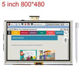 Tft Lcd Touch Screen Module Canada - Freeshipping 5 inch Raspberry Pi 3 LCD Touch Screen HDMI Interface Display Module TFT LCD 800*480 for Raspberry Pi 2 model B B+