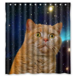 $enCountryForm.capitalKeyWord Canada - Customs 36 48 60 66 72 80 (W) x 72 (H) Inch Shower Curtain Funny Open-eyed Cat in Galaxy Print Polyester Fabric Shower Curtain