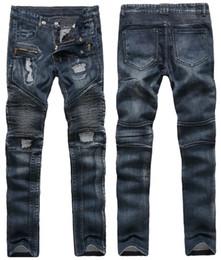 represent clothing 2019 - Europe Style Men's Jeans Represent Clothing Designer Pants Vintage Destroyed Zipper Slim Denim Straight Biker Rippe