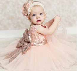 tutu wholesale big kids Australia - Eco-Friendly Baby Sequins Big Bow Dress Sleeveless Summer Kids TuTu Lace Princess Dresses Clothes Children Sleeveless Girls Party Dress