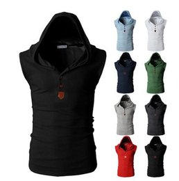 Grey Casual Man Vest Canada - New Mens Hooded Vest Male Casual Sleeveless Jacket Fashion Gilet For Men Waistcoats Tactical Coat Vests Warm Winter Tactical