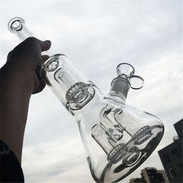 Ingrosso Becher di vetro Bong Dab Rig 4 Filtri UFO Perc Heady Tubi dell'acqua Bong Quartz Banger Bowl Oil Rigs Bubbler Smoking Piping Thick Tall