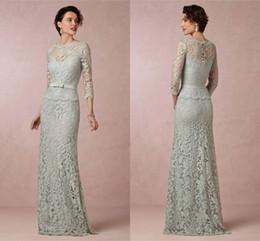 75435a31927 PePlum mother bride dresses online shopping - Sage Mint Lace Mother Of The Bride  Dresses Bateau