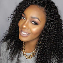 $enCountryForm.capitalKeyWord Australia - Kinky Curly Brazilian Virgin Hair Full Lace Human Hair Wigs For Black Women Curly 150 Density Lace Front Wigs Natural Hairline Glueless