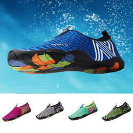 Wading Chaussures Plongée Beach Swimming Snorkeling Chaussures Light Portable Yoga Dance Lovers Chaussures Stretch Fabric Causal
