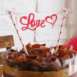 Wholesale- 1 PZ compleanno torta nuziale cupcake topper carta paglia con  accessori torta bandiera Decorazione del partito forniture 4e0a7720d701
