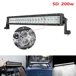 $enCountryForm.capitalKeyWord Canada - 22 inch 200W Car LED Worklight Bar 40x 5D CREE Chips Combo Offroad Light Driving Lamp for Truck SUV 4X4 4WD ATV CLT_41G