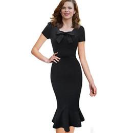 Black evening midi dress