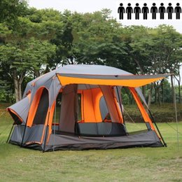 Discount two room tents Wholesale- 8persons Outdoor Tent Two Room Portable Design Fit for C&ing : two room tents - memphite.com
