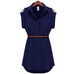 Chinese  2017 Fashion Women's Short Sleeve Stretch Chiffon Casual OL Belt Mini Dress Vestidos Sexy Slim Party Dresses manufacturers