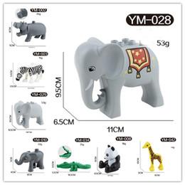 large panda toy 2019 - free shipping animals Series elephant panda giraffe animals Large Particle Building Blocks Kids Toys gift Compatible wit