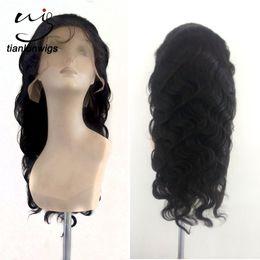 $enCountryForm.capitalKeyWord NZ - xintianlun 20 inch fashion natural color hair nets, modern way human hair full lace wig for balck women