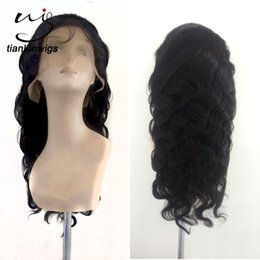 Wholesale xintianlun inch fashion natural color hair nets modern way human hair full lace wig for balck women