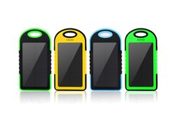 Chinese  Universal 5000mAh Solar Charger Waterproof Solar Panel Battery Chargers for Smart Phone iphone7 Tablets Camera Mobile Power Bank Dual USB manufacturers
