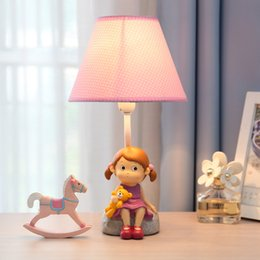 Children Girl Desk Lamp Creative Cartoon Bedside Table Lamp Bedroom Gift  LED Adjustable Light Pretty Cute Reading Pink Lamp Home Decoration