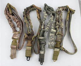 TacTical single poinT sling online shopping - Tactical American sling One Single Point Sling Adjustable Bungee Rifle Gun Sling Strap System Tactical Single Point Gun Sling