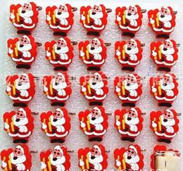 $enCountryForm.capitalKeyWord NZ - New Cartoon 25pcs set Cartoon Santa Claus PVC LED Badge Flashing Brooch,Children Party Christmas Valentine's Day Decoration F--3