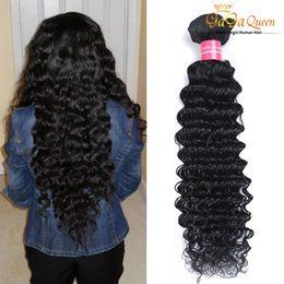 hair waves products 2019 - Wholesale Unprocessed Peruvian Malaysian Brazilian Hair Products Brazilian Virgin Hair Deep Wave 4Bundles per lot Human