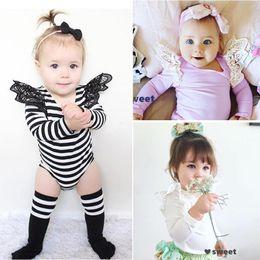 $enCountryForm.capitalKeyWord Australia - 2017 4 color INS hot baby girl kids toddler Lace romper onesies diaper covers bloomers Dress jumper Fly sleeve crochet shoulder pajamas