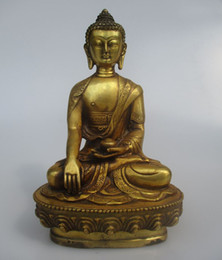 $enCountryForm.capitalKeyWord Canada - 8 inch antique buddha sculpture ,Collectible old chinese Brass carved light Buddha statue 002 Arts Crafts Antiques Metal Statue Sculpture