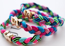 plaited hair bands NZ - Han edition tire Pure manual weaving Plait hair bands 7 colour braid hair rope Twist rope