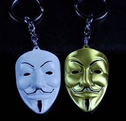 $enCountryForm.capitalKeyWord NZ - Hot!5PCS LOT 2 Colors Movie V For Vendetta keychain Mask Metal KeyRing Key Chain Ring For Fans Jewelry