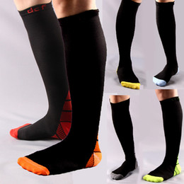 soccer sweats Australia - New Gradient Ramp Compressed Socks Breathable Outdoor Marathon Running Soccer Basketball Absorb Sweat Sailing Riding Mounted Elastic Socks