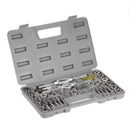 Die Kit UK - 40pcs High Speed Steel Tap dies Set Metric Taps Dies DIY kit screw tap Holder Thread Gauge Wrench Threading hand Tools + Case