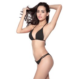 wholesale orange bikini Canada - Bathing Suits For Women Bikinis Swimdress Strapy Top Closured Brazilian Bottom Sexy Lingerie Thong Bikini 11 Colors Beachwear Bikini Tops