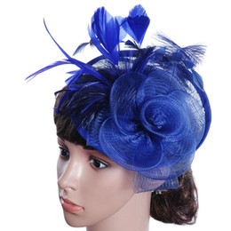 China Exclusive Lady hat Cambric Ostrich hair High-end hats Party hats For Wedding Halloween party with Free shipping supplier high end wigs suppliers