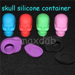 Round Skull NZ - New Skull Silicone Non-stick Container Non Stick Jar For Wax 15ml Silicone Rubber Storage Container Jar Seals
