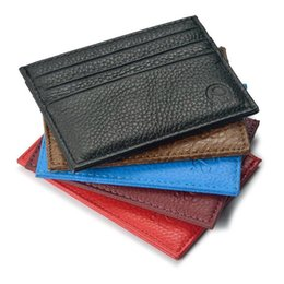 Chinese  Hot selling High quality 100% real leather magic wallets fashion designer men bank card holder retail and wholesale manufacturers