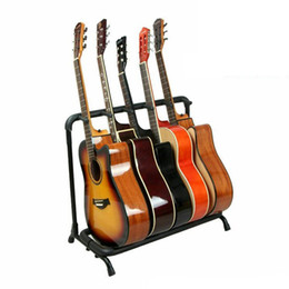 $enCountryForm.capitalKeyWord Canada - Good quality Guitar Stand 5 Holder Guitar Folding Stand Rack Stage Bass Acoustic Guitar