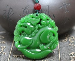 Men green jade necklace canada best selling men green jade xinjiang natural green jade brave and field white jade lucky brave pendant men and women pendant jade necklace aloadofball Image collections