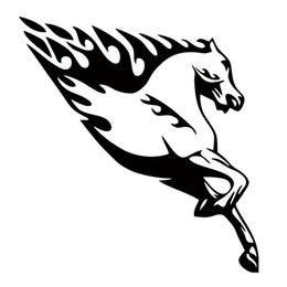Car Body Art Canada - Running Horse With Flames Vinyl Personality Car Sticker Jdm Car Styling For Car Body Truck Decal Decorative Art